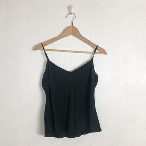 DKNY black silk tank top